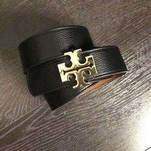 Large Tory Burch Belt - reversible Black and Tan